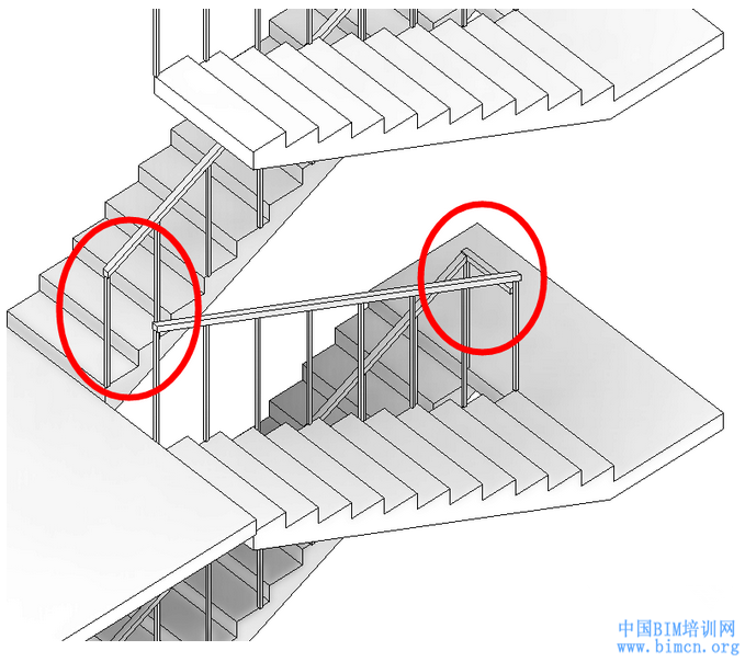 BIM教程,REVIT高效的楼梯扶手转角连接技巧,BIM软件,中国BIM培训网