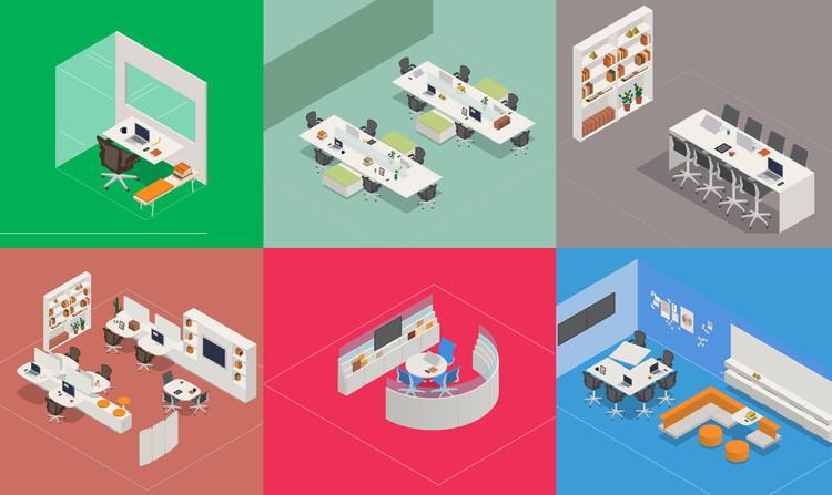 如何设计舒适高效的办公室:个人工作区,Cortesia de Herman Miller