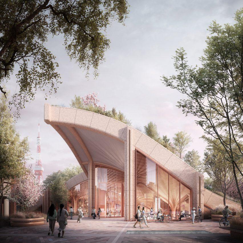 """希瑟维克工作室展示东京""""巨型种植棚架""""的设计"""