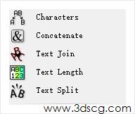 计算机生成了可选文字: i t Join T Lengeh Split www.3dscg.conJ