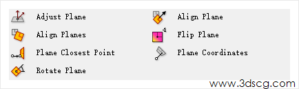 Adjust plane  Al i gn planes  plane CI  Rotate plan  plane  Flip plane  plane Coordinates  www.3dscg.com