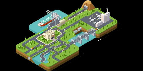 建筑陆桥、桥梁、隧道、地铁、港口设计与施工