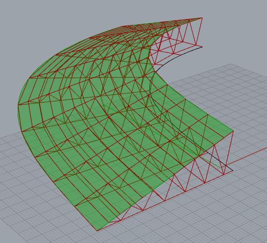 grasshopper钢架结构算法,桁架结构算法