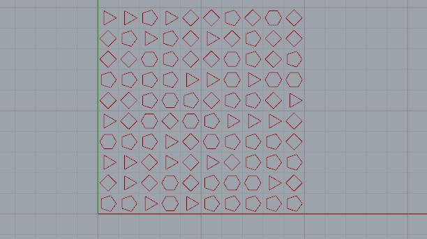 grasshopper中删除指定边数的多边形