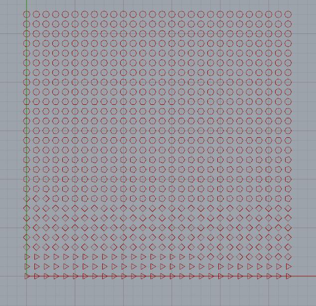 grasshopper渐变的并且随机不等数量边数的多边形阵列算法
